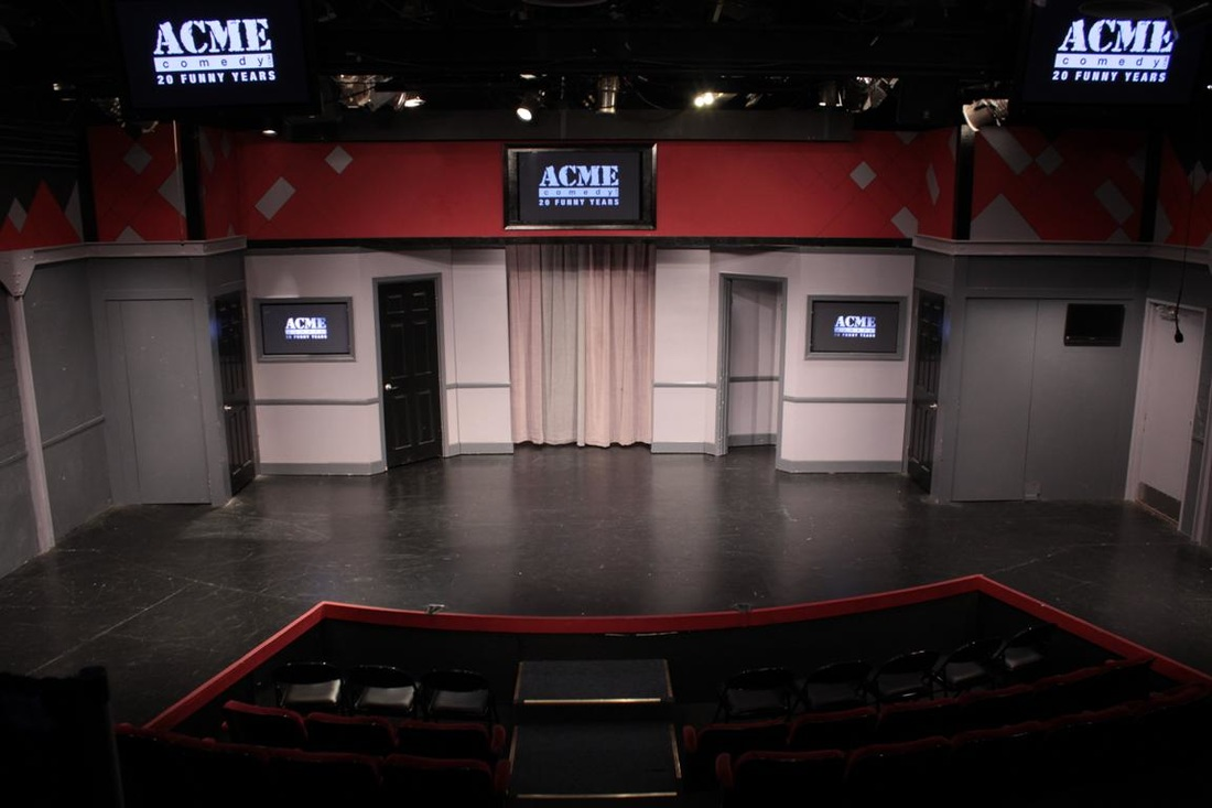 Standard Stage Setup with Four Stage Doors & ACME :: Rentals -Hollywood Theatre - ACME Comedy